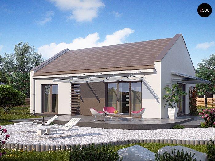 Проекта СИП дома Z252 - фото фасада