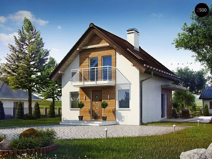 Проекта СИП дома Z264 - фото фасада