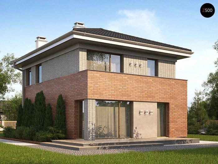 Проекта СИП дома Z295 - фото фасада