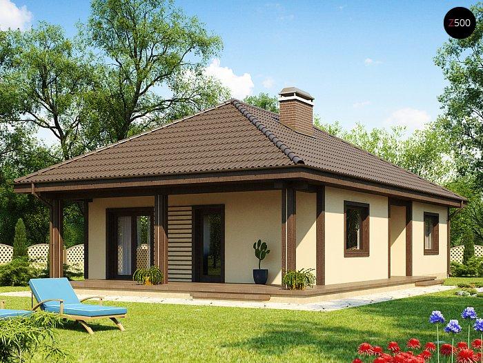 Проект СИП дома Z 55 - фото фасада