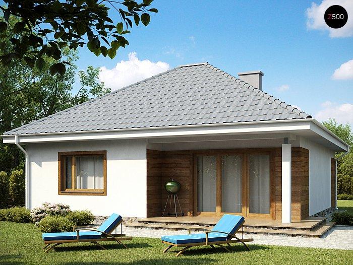 Проекта СИП дома Z64 - фото фасада