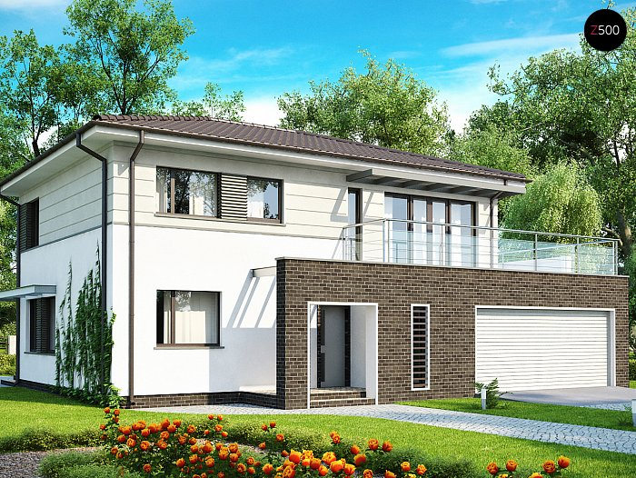 Проект СИП дома Zx26 - фото фасада
