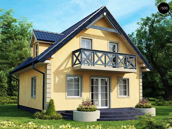 Проекта СИП дома Z1 - фото фасада