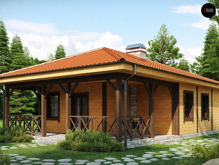Проект СИП дома Z16 - фото фасада