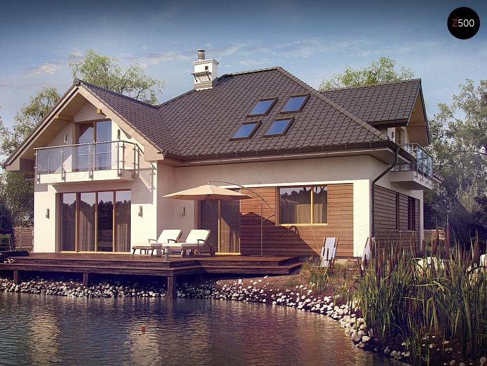 Проект СИП дома Z 272 - фото фасада