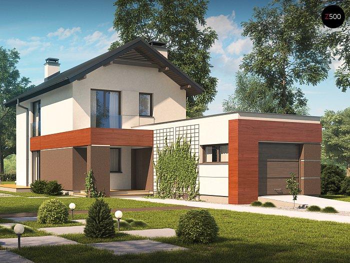 Проекта дома из СИП Z297 - фото фасада