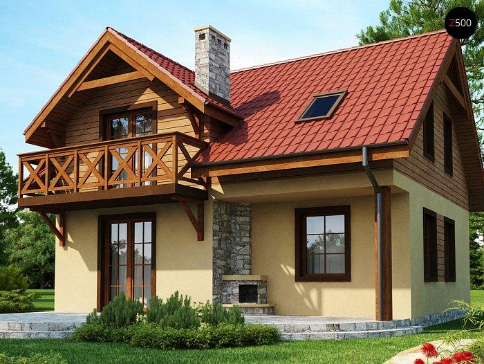 Проекта СИП дома Z3 - фото фасада