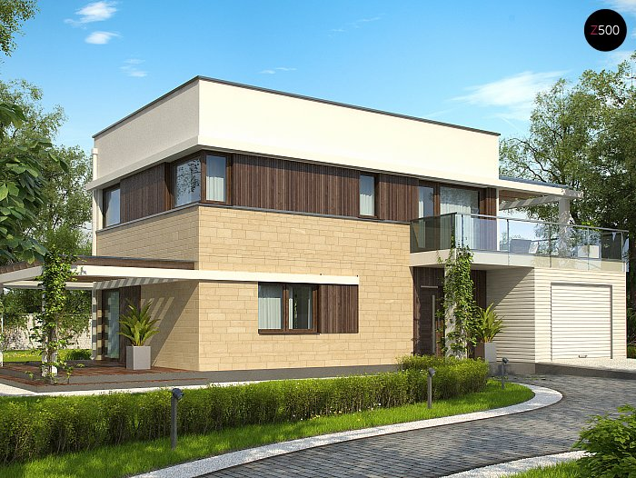 Проекта СИП дома Zx63 А - фото фасада