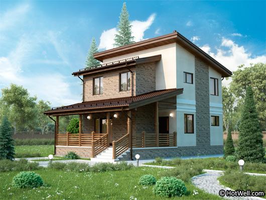 Проекта СИП дома Клязьма - фото фасада