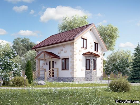 Проект СИП дома Кубинка - фото фасада