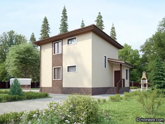 Проекта СИП дома Волково - фото фасада