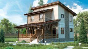 Проект дома Клязьма - вид 1