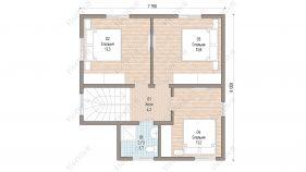 Проект дома Клязьма - схема