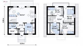 Проект дома Z 1 - схема