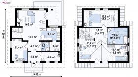 Проект дома Z 13 - схема
