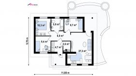 Проект дома Z 15 - схема