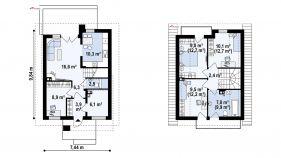 Проект дома Z 174 - схема