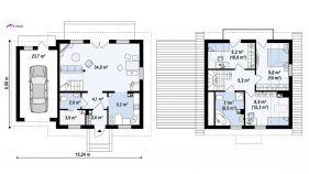 Проект дома Z 1 GL - схема