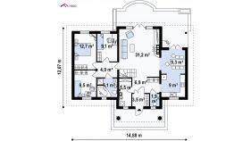 Проект дома Z 2 - схема
