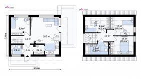 Проект дома Z 211 - схема