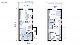 Проект дома Z 25 - схема