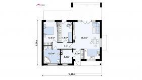 Проект дома Z 256 - схема
