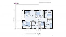Проект дома Z 258 - схема