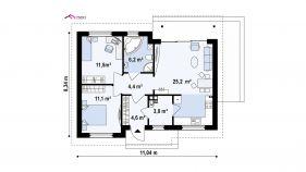 Проект дома Z 262 - схема