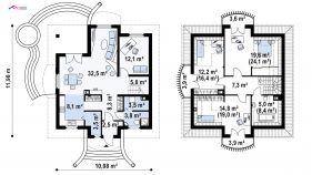 Проект дома Z 27 - схема