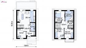 Проект дома Z 38 - схема