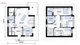 Проект дома Z 47 - схема