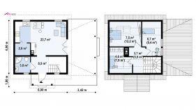 Проект дома Z 57 - схема
