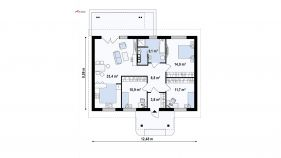 Проект дома Z 61 - схема