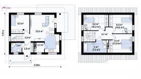 Проект дома Z 71 - схема