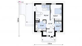Проект дома Z 73 - схема