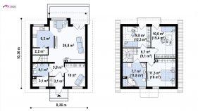 Проект дома Z 99 - схема