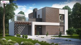 Проект дома Zx 41 v1 - вид 1