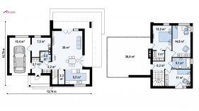 Проект дома Zx 41 v1 - схема