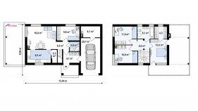 Проект дома Zx 63 A - схема
